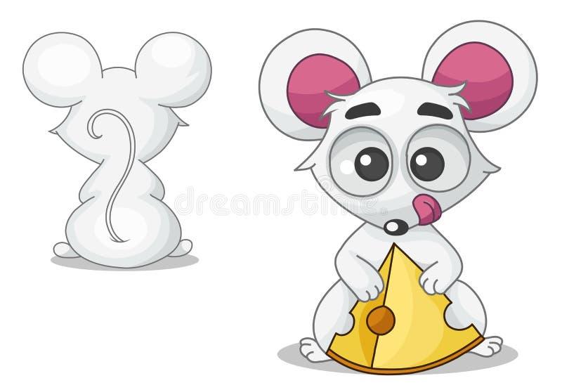 Mysz z serem ilustracja wektor