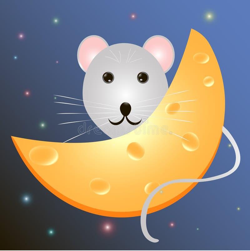 Mysz z serem obraz stock