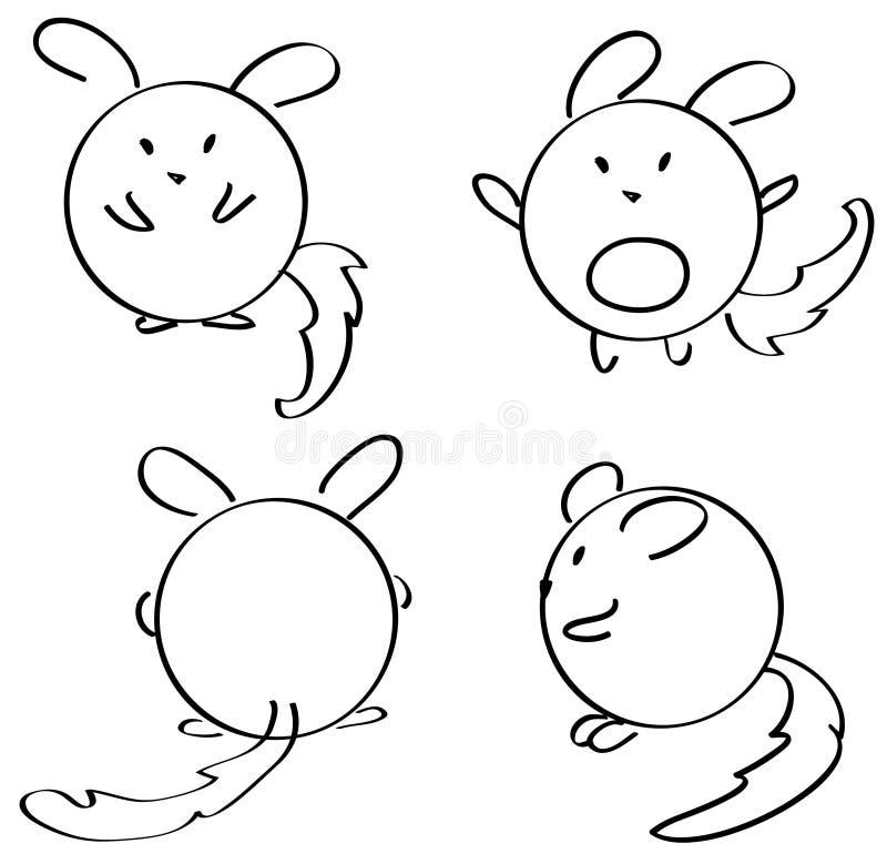 myszy ładne royalty ilustracja