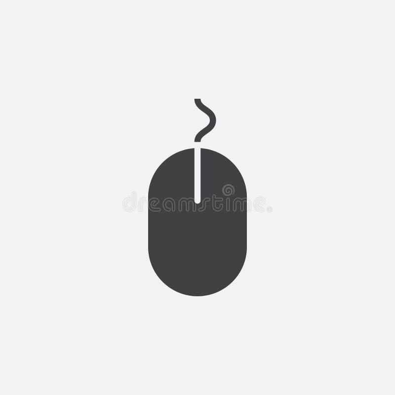 Myszy ikona, wektorowy logo, liniowy piktogram odizolowywający na bielu, piksel perfect ilustracja royalty ilustracja