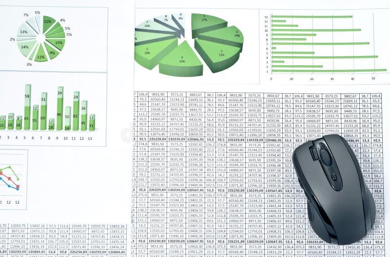 myszy komputeru osobisty spreadsheets zdjęcie royalty free