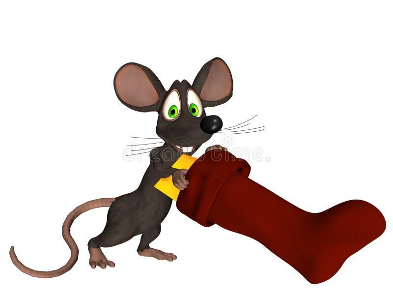 myszy pończocha royalty ilustracja