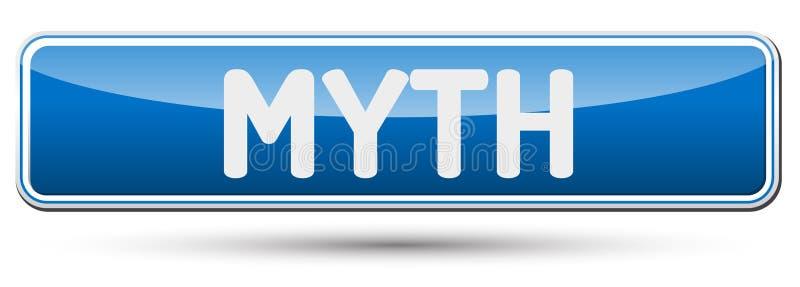MYT - Abstrakt härlig knapp med text stock illustrationer