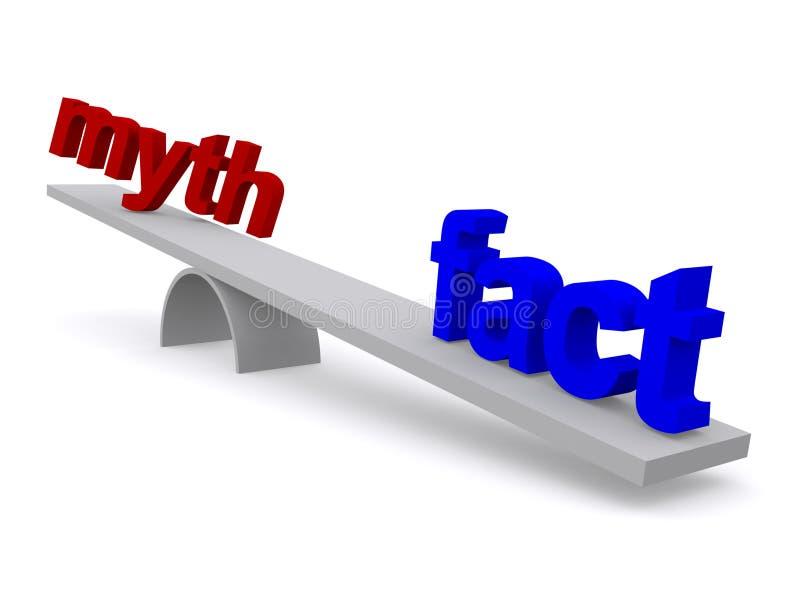 Myt och faktum vektor illustrationer