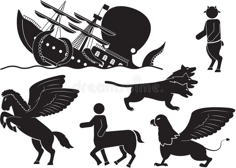 myth vektor illustrationer