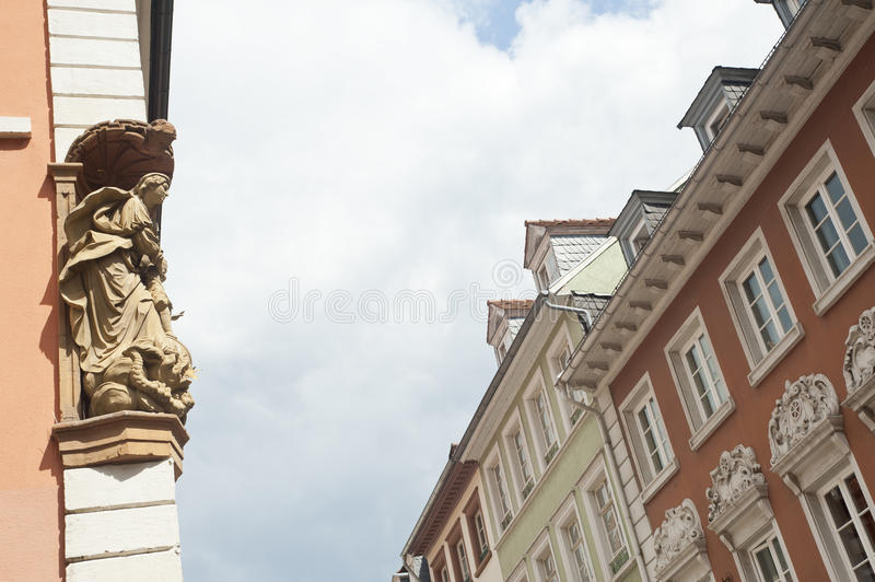 Myth Angel Statue On The Building. Royalty Free Stock Image