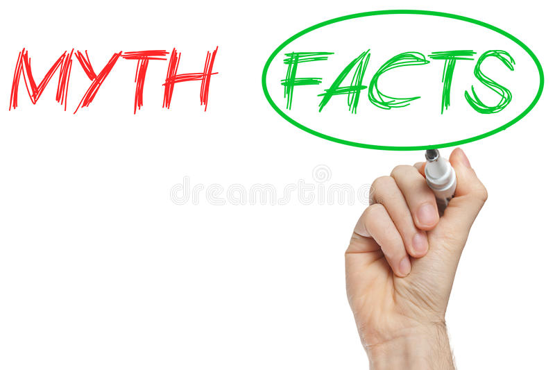 Download Myth and facts stock illustration. Image of contrast - 33589616
