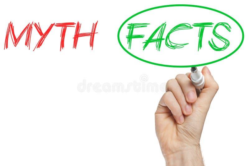 Mythe et faits illustration de vecteur