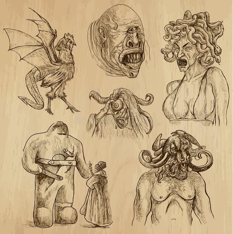 Mythen en Monsters stock illustratie