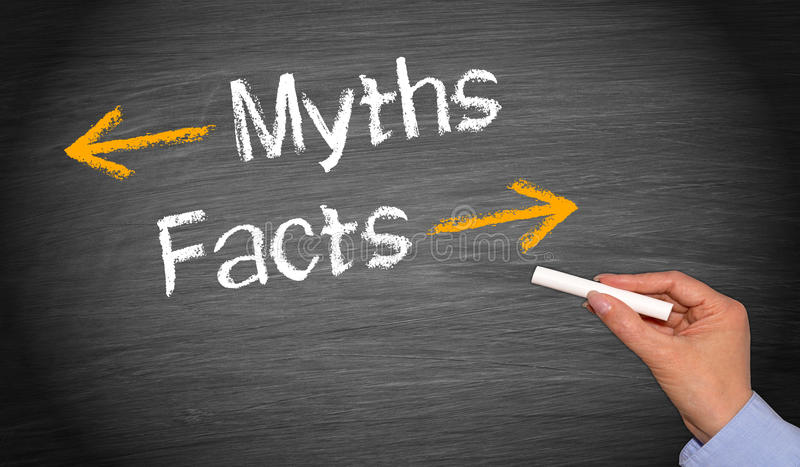 Mythen und Tatsachen lizenzfreies stockbild