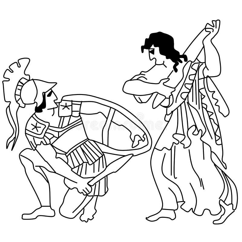 Mythes et légendes de Greece-2 antique illustration stock