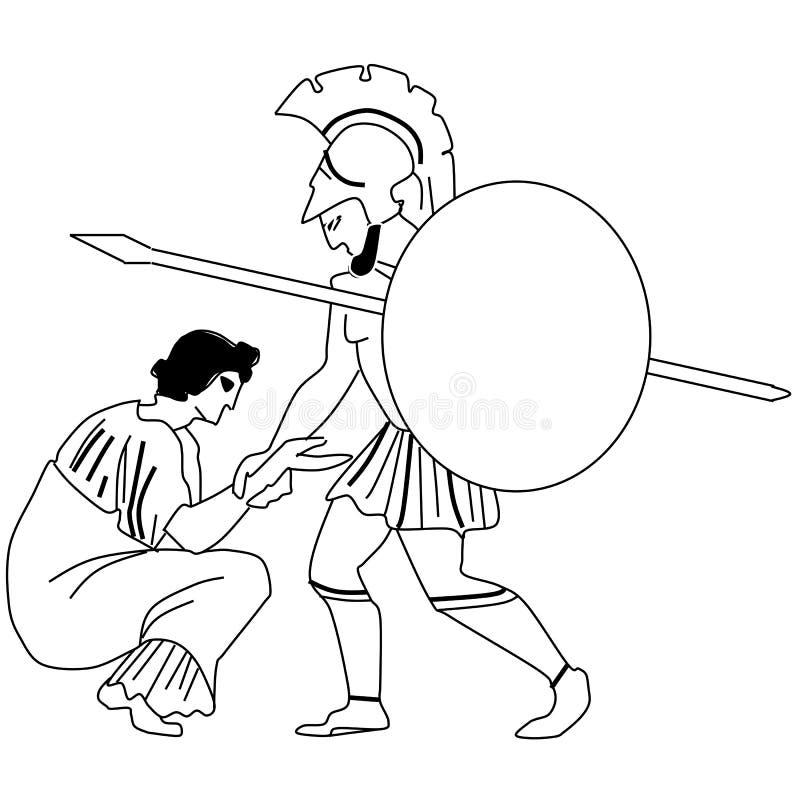 Mythes et légendes de Greece-1 antique illustration de vecteur