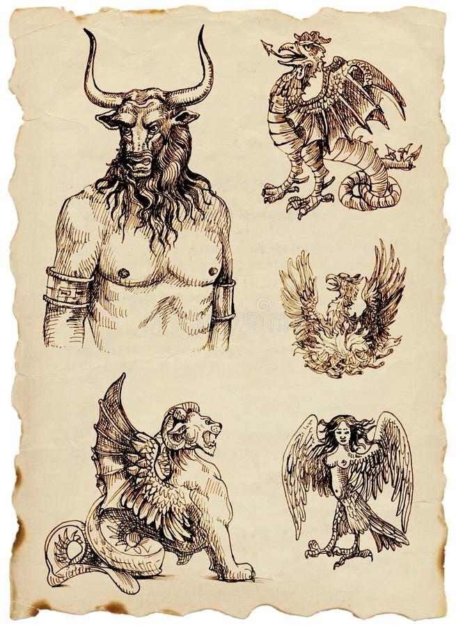 Mythes grecs illustration stock