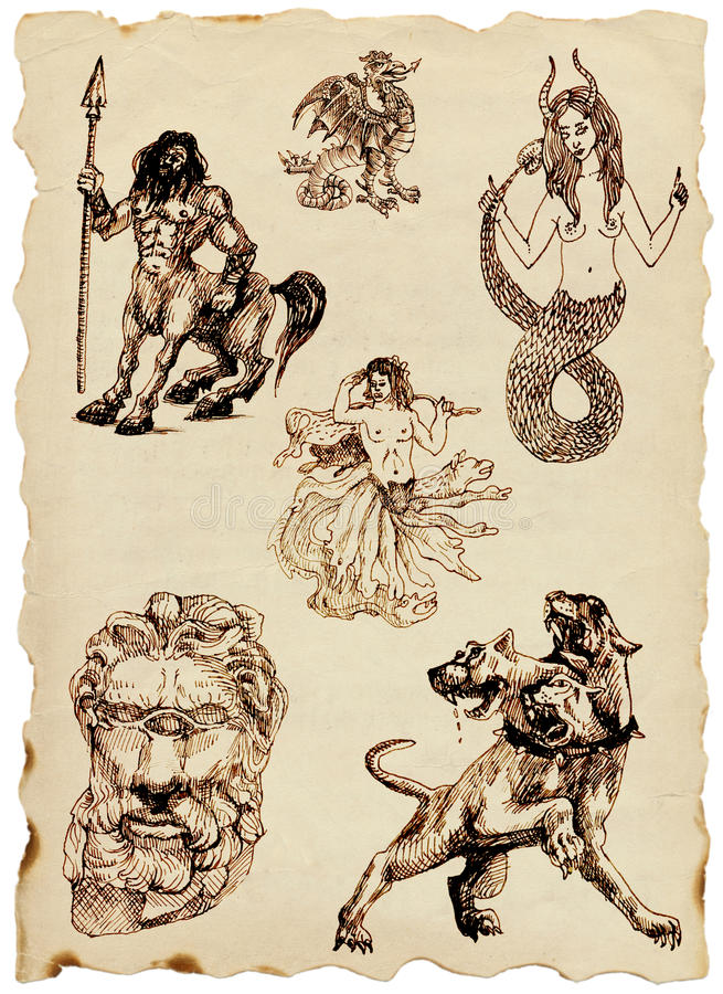 Mythes grecs illustration de vecteur