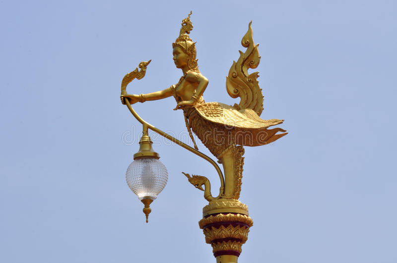 Mythical creature in a temple of Thailand