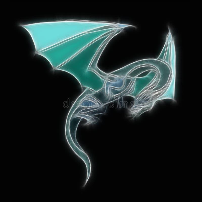 Mythical Dragon stock illustration