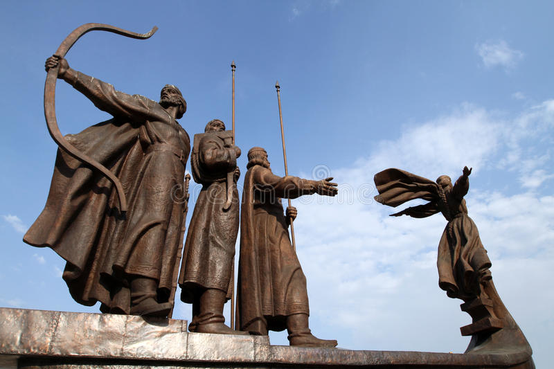 Download Mythical Founders Of Kiev On The Dnieper River Stock Photo - Image: 15456290