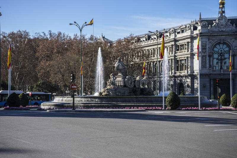 Mythical fountain of Cibeles, the capital of Spain madrid royalty free stock images