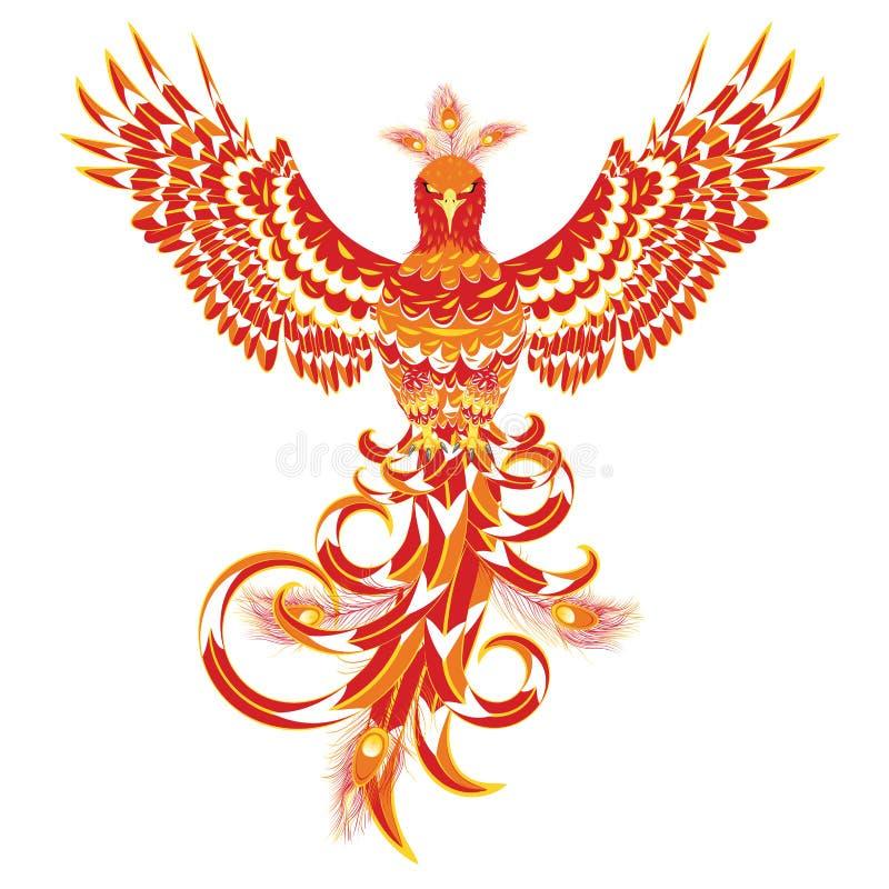 mythical phoenix bird stock vector illustration of firebird 122014292