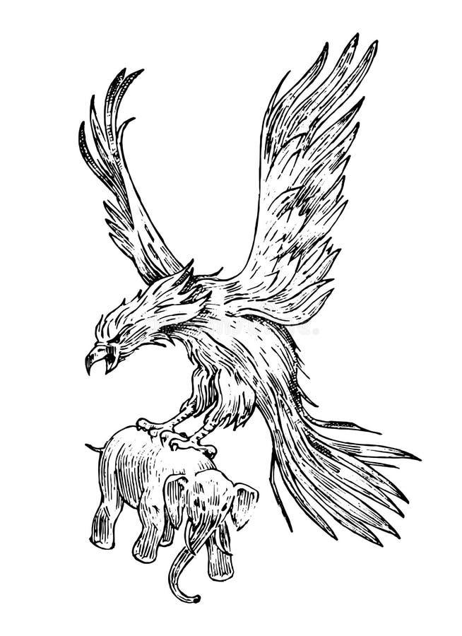 KVMV Hand Drawn Phoenix Fire Bird from Russian Fairy Tale 5size Beach Shorts