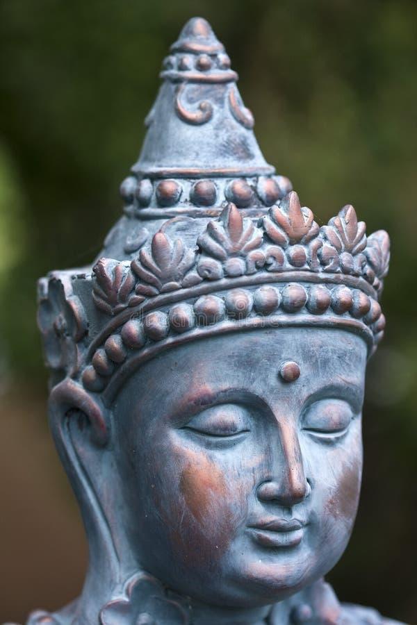 Mythical Princess Buddha. The female mystical Princess Buddha's head sculpture stock photos