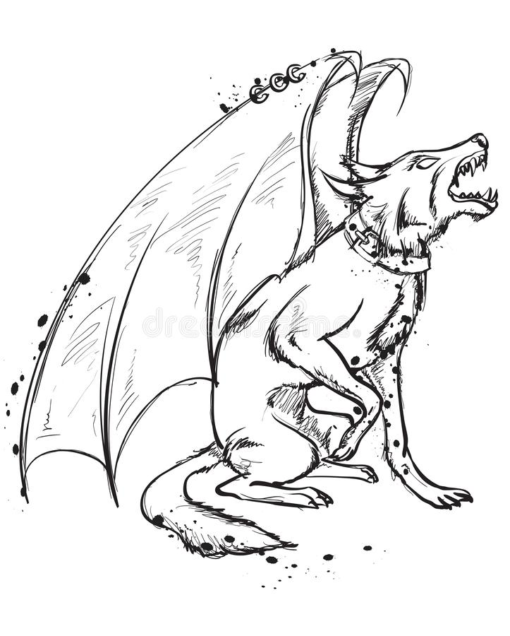 Drawing Wolf With Wings
