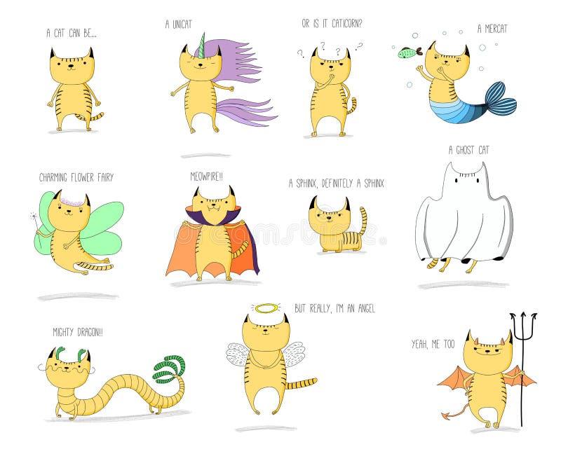 Mythische katten vector illustratie
