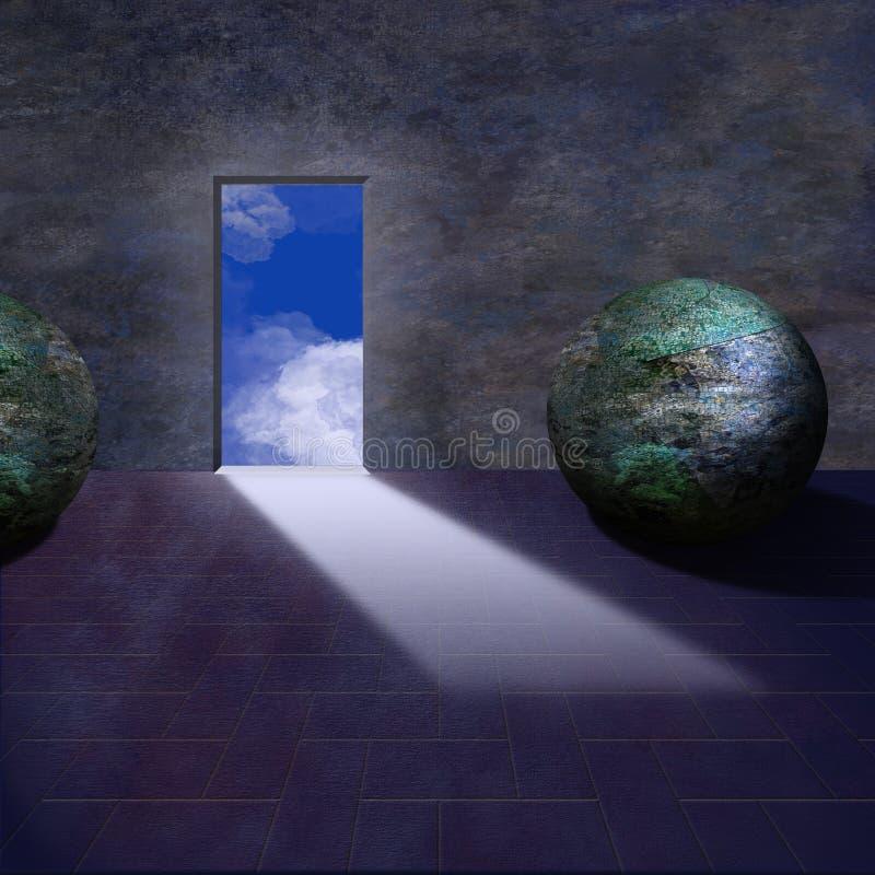 Mythischer Fantasieraum lizenzfreie abbildung
