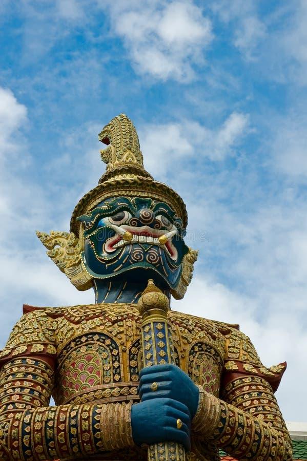 Mythischer riesiger Wächter bei Wat Phra Kaew, Bangkok lizenzfreies stockfoto