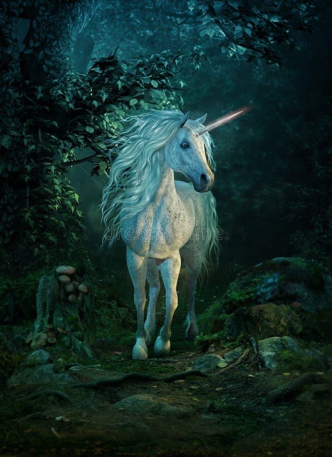 Mythisches Einhorn, 3d CG lizenzfreie abbildung