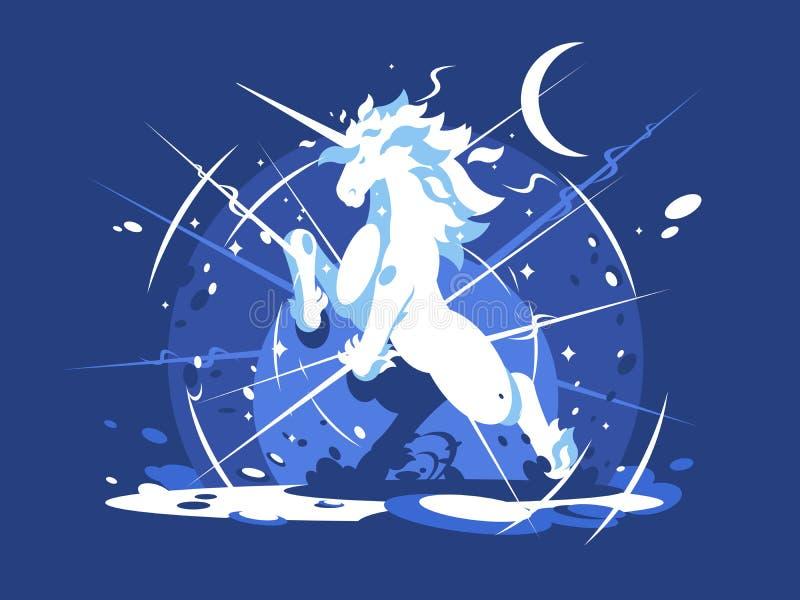 Mythisches Tier des Einhorns lizenzfreie abbildung