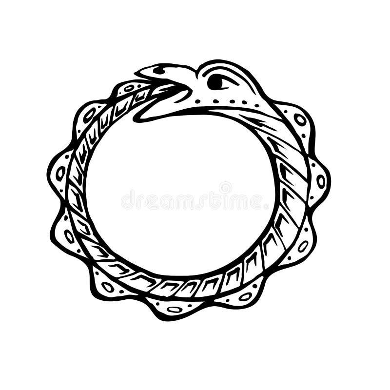 Mythologie et serpents d'Uroboros illustration stock