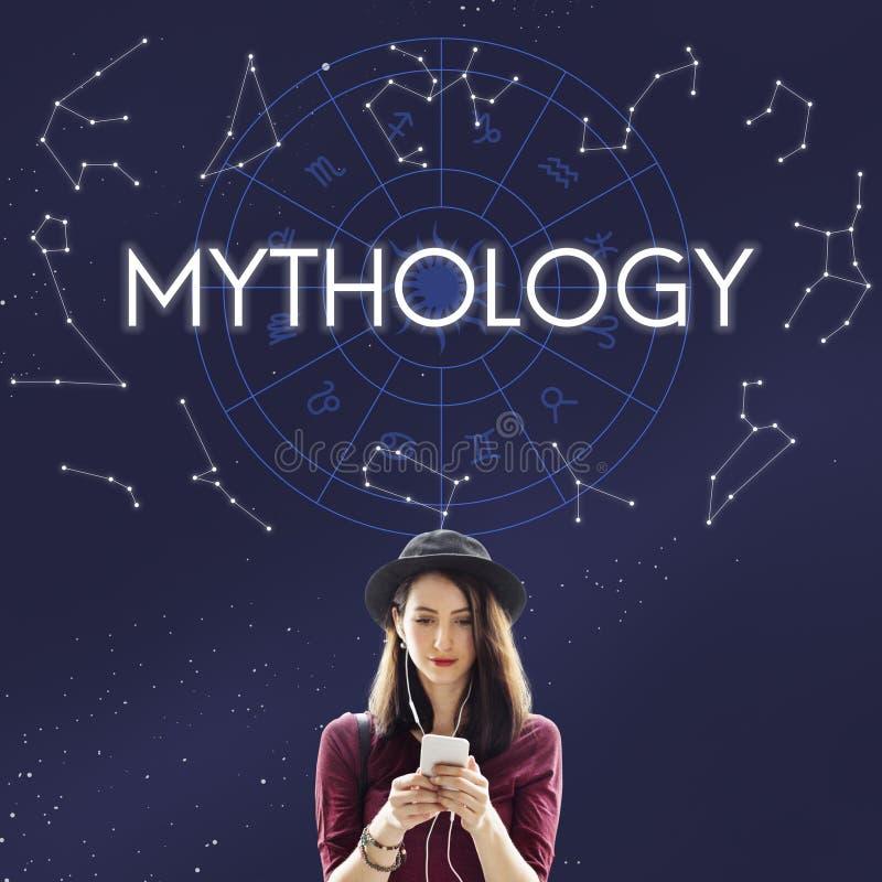 Mythologie-Kosmos-Universum-Stern-Konzept lizenzfreie stockfotografie