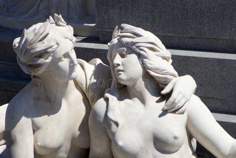 Mythologie womans - Wien stockbild