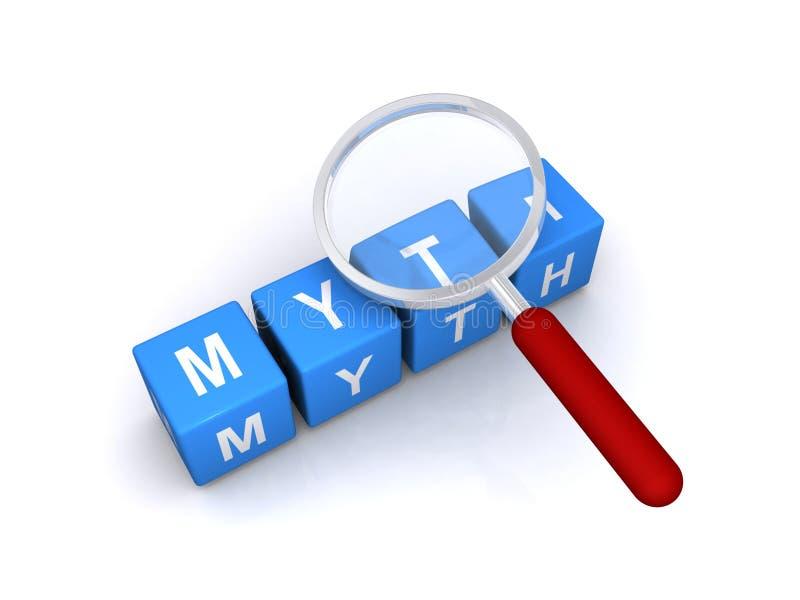Mythos- Zeichen lizenzfreie abbildung