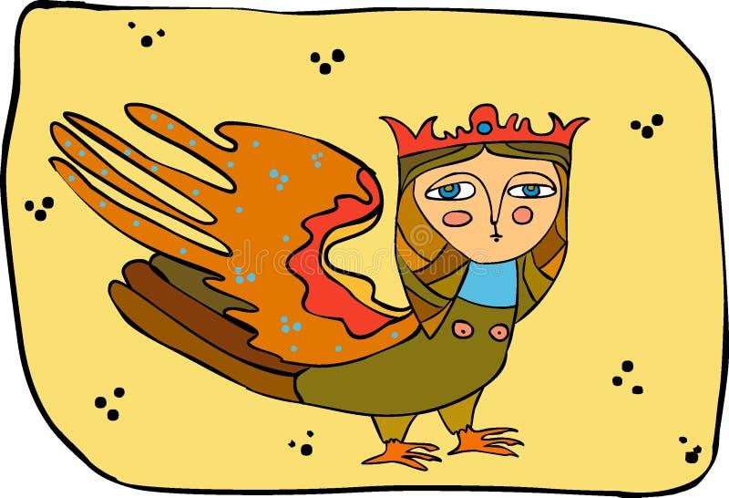 mytisk fågel royaltyfri illustrationer