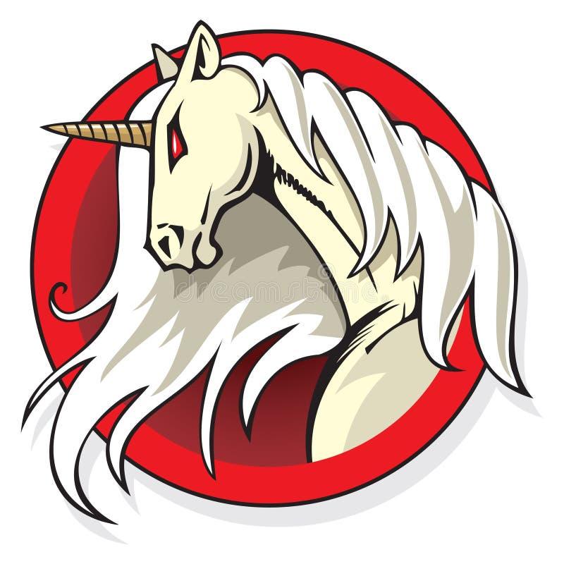 mytisk unicorn vektor illustrationer