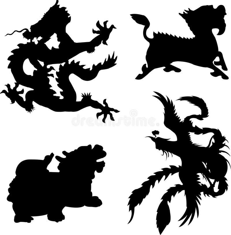 mytiskt djur vektor illustrationer