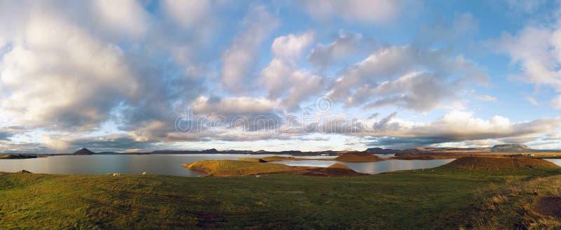 Myvatn islandês da região do lago fotografia de stock