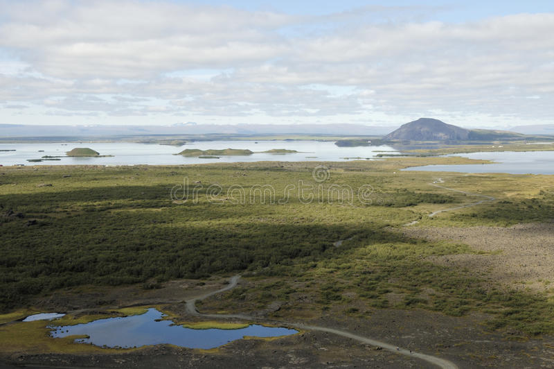 Download Myvatn lake in Iceland. stock photo. Image of volcanic - 25305328