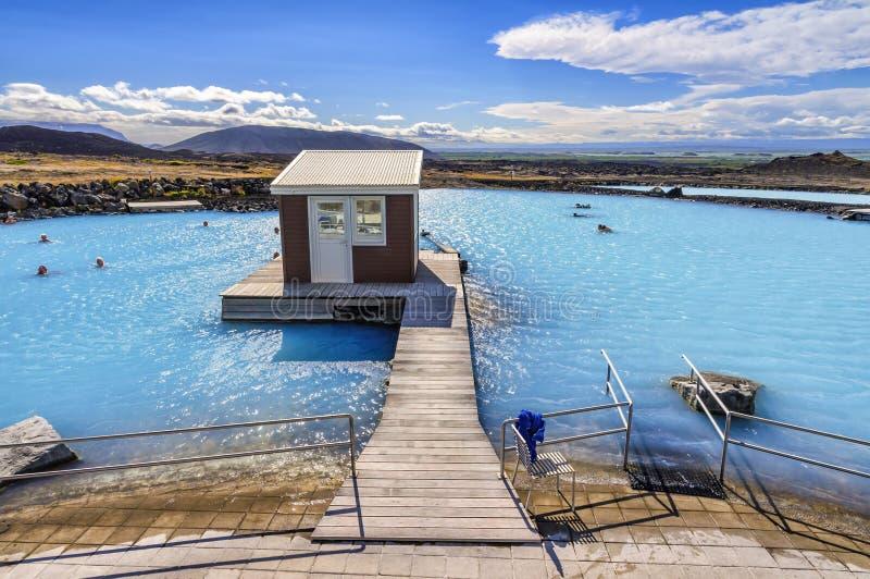 Myvatn naturbad i Island royaltyfria foton
