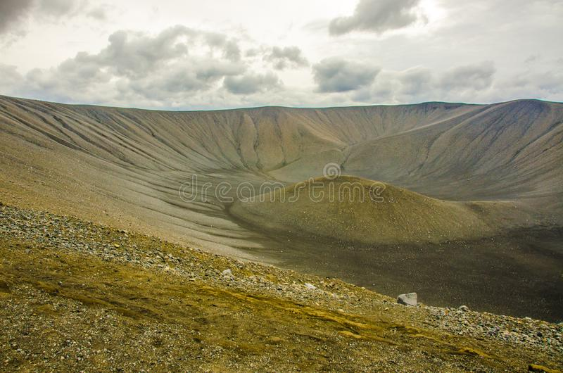 Myvatn - paisaje del vulcano en Islandia imagen de archivo