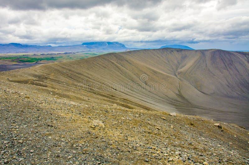 Myvatn - paisaje del vulcano en Islandia fotografía de archivo libre de regalías