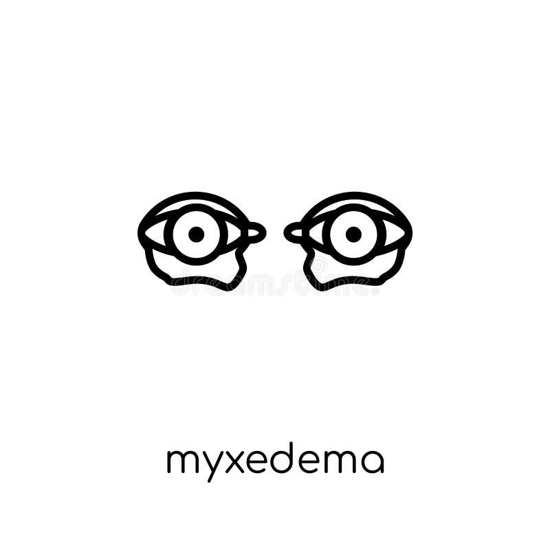 Myxedema symbol  royaltyfri illustrationer