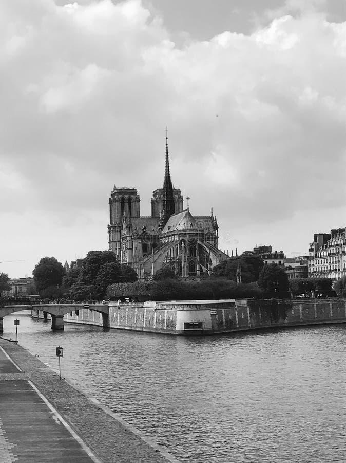 NÃ'tre-dama de París de Cathédrale fotografía de archivo