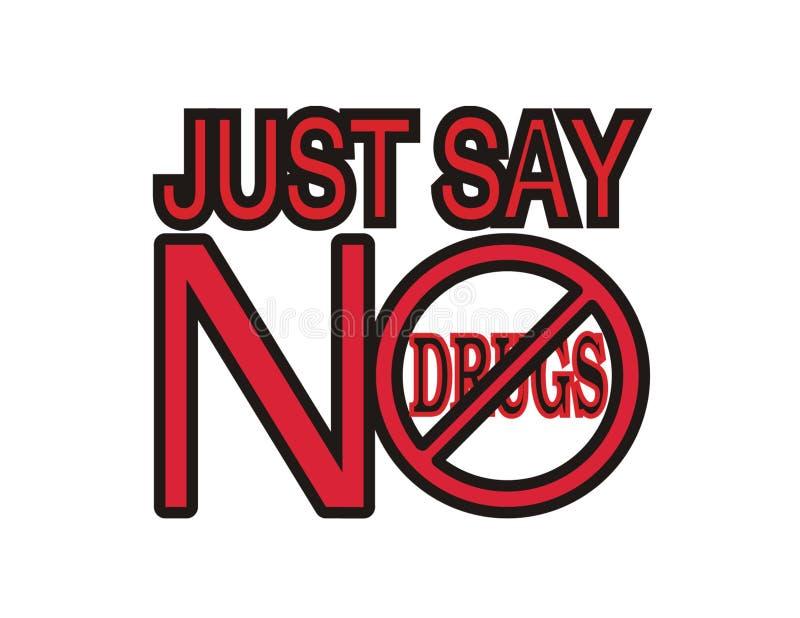 Não às drogas. ilustração royalty free