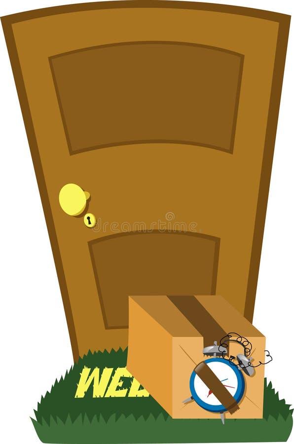 Não abra essa porta! ilustração do vetor