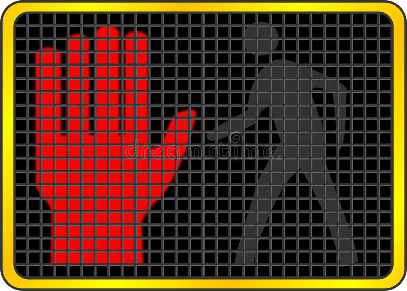 Não anda o sinal ilustração do vetor