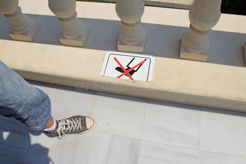 Não ande no mármore foto de stock royalty free