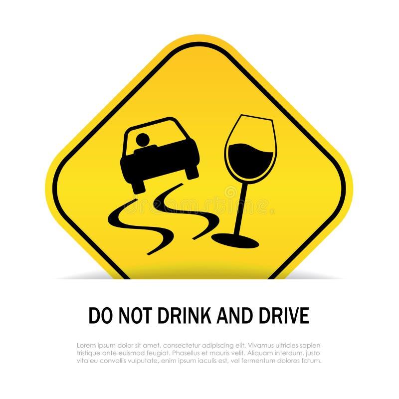 Não beba e não conduza ilustração royalty free
